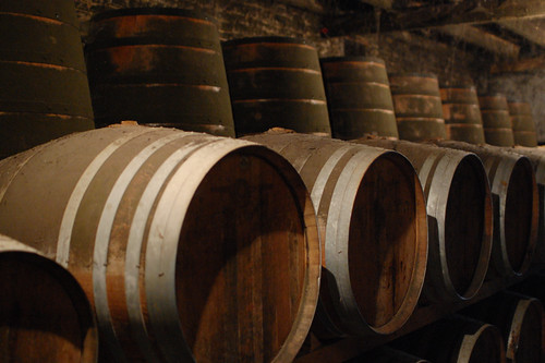 barrels of cognac