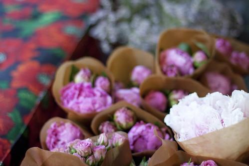 Blomster på Purpur