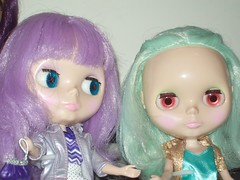 sisters (dreams of Violets) Tags: toys dolls barbie pullip blythe
