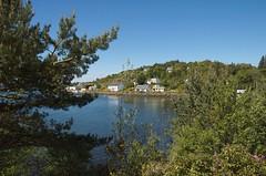 Blick auf Gairloch Hafen