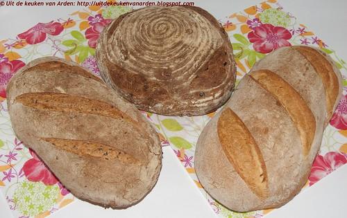 3 verschillende broden, gebakken in de Rofco