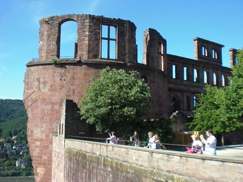 Живописные развалины гейдельбергского замка
