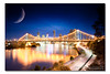 Where it all Began. ([ Kane ]) Tags: city longexposure bridge blue light sky moon water clouds reflections river landscape photography glow cityscape dusk australia brisbane workshop hour qld queensland bluehour kane cokin gledhill p121s kanegledhill wwwhumanhabitscomau kanegledhillphotography