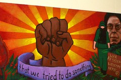 A mural from the Student School