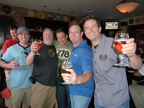 Kite & Key co-owner Jim Kirk and me with Sam Calagione, Bill Covaleski & Greg Koch