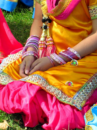 Sawan Mela South Asian Summer Festival, colorful Indian fashion and bangles