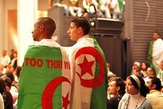 one too thri.. (Salima Chez.Kito.Kat) Tags: lune rouge football bruxelles vert du croissant monde blanc coupe algérie drapeau bozar