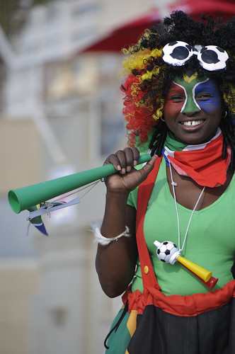 Vuvuzela Blowing Stilt Walker