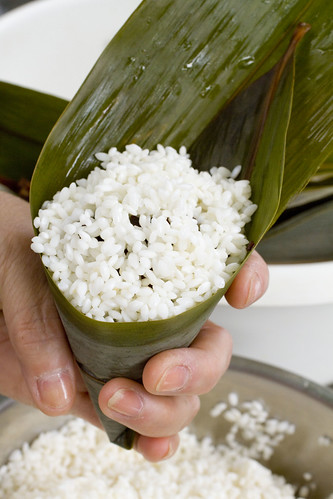 top with sticky rice