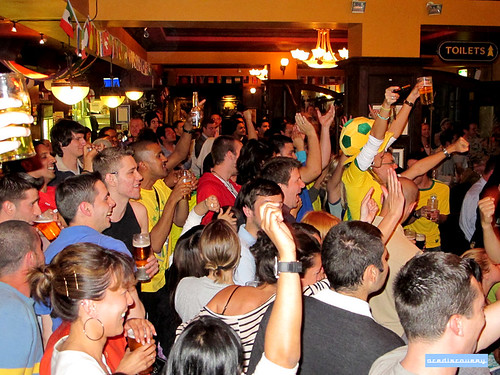 brazil colour costume football outfit celebration latin brazilian fans worldcup