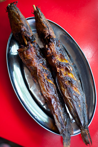Grilled catfish at Jay So, a northeastern Thai restaurant in Bangkok