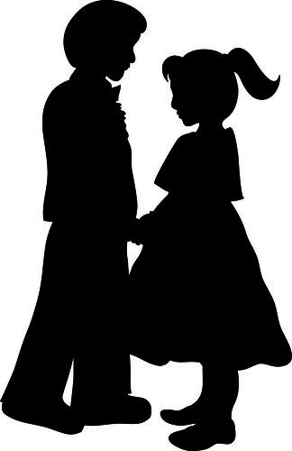 clip art girl silhouette - photo #19