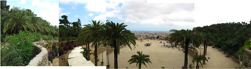 view from the top of parc guell