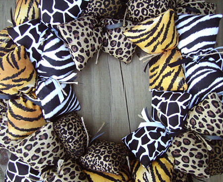 Animal Print Fabric Wreath
