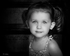 Windows to the Soul (Rebecca812) Tags: portrait blackandwhite cute texture girl beautiful smile kids children kid eyes soft pretty child sweet sister daughter naturallight monotone explore niece ponytail pigtails frontpage pareeerica canon5dmarkii rebecca812