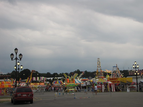 Carnival with foreboding skies