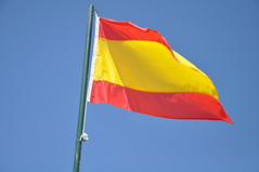 Flying Spanish flag