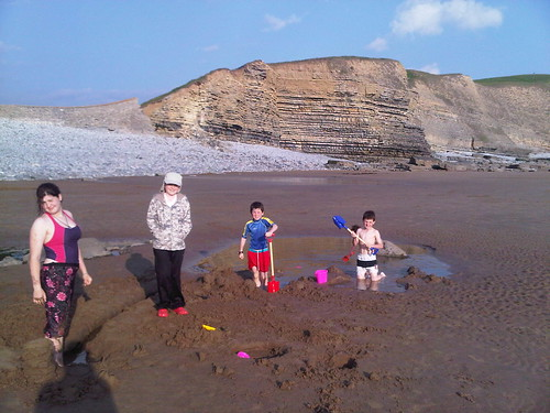 Kids at Southerndown early evening