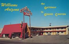Belaire Motel - Williams, Arizona (The Cardboard America Archives) Tags: arizona vintage williams postcard motel belaire