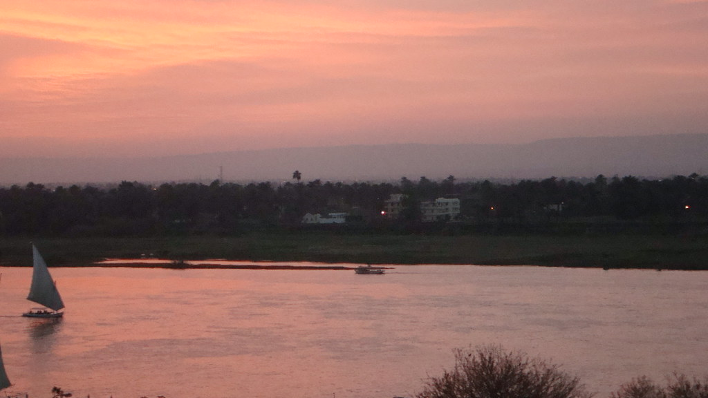 Sunset Nile at Luxor