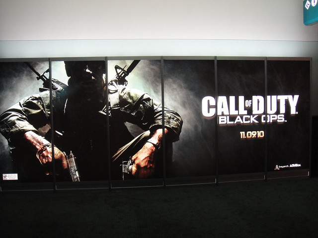 E3 2010 Call of Duty Black Ops banner