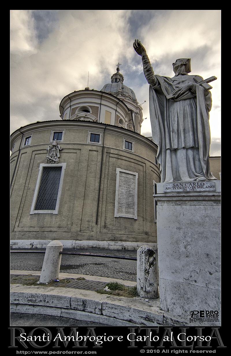 Roma- Basilica Santi Ambrogio e Carlo al Corso -San Carlos