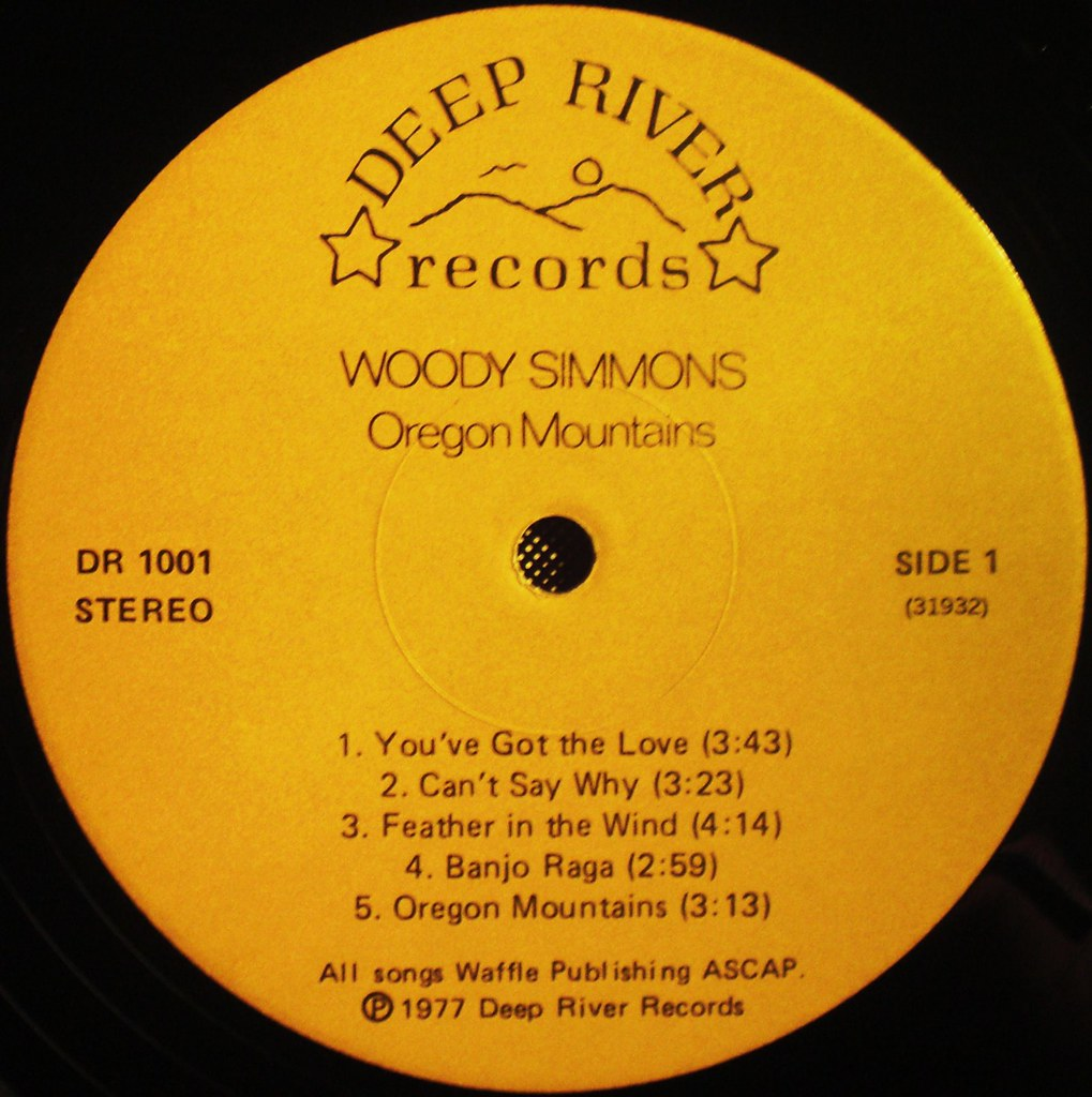 Woody Simmons - Oregon Mountains LP label