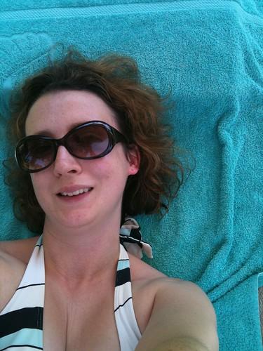 Me, sunbathing