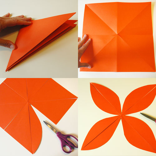 How to Make Easy Paper Pumpkins (step one) by Brenda Ponnay for Alphamom.com