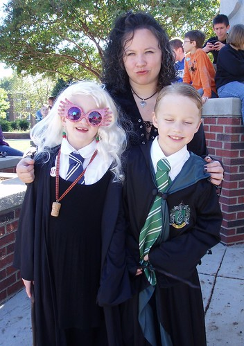 Bellatrix Lestrange with Luna Lovegood and Draco Malfoy