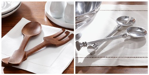 Pottery Barn Serving Sets Collage