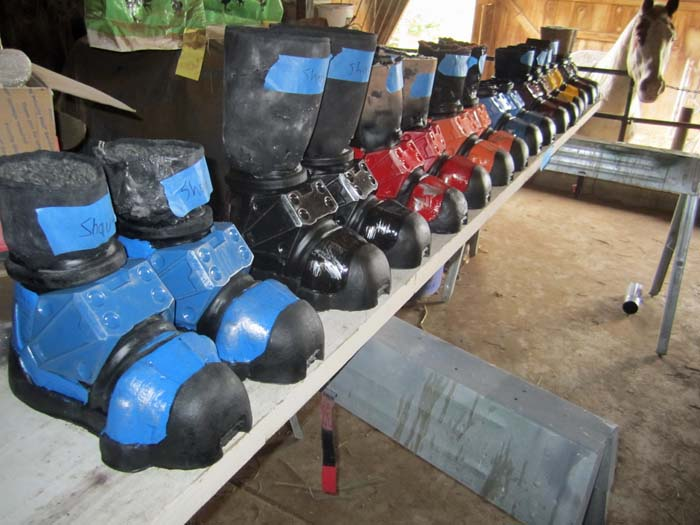 Painted Boots Lined UP