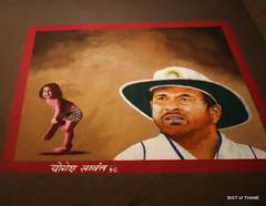 Rangoli Exhibition - Sachin Tendulkar (Raju Bist) Tags: thane rangoli newgirlsschool diwali2010 rangvalli
