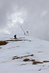 Mike making his way through the grass patches (Bavarian Ski Club) Tags: winter snow ski austria europa europe glacier snowboard gletscher tux zillertal hintertux oesterreich tuxertal bavarianskiclub