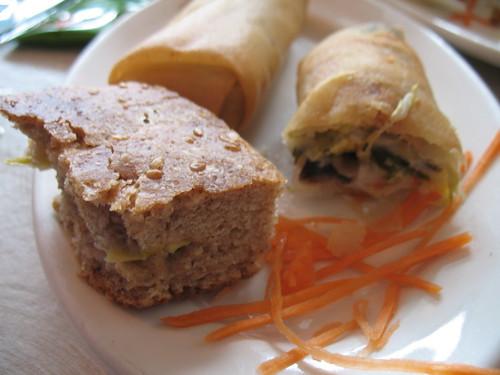 Carrot Bread & Spring Roll