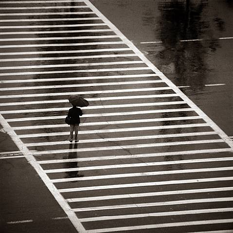 Albert Watson, Crosswalk, Beijing Hilton, 1979