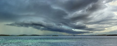Start of the 2010 Summer Storm Season (ImageBud) Tags: panorama cloud lake storm clouds newcastle australia lightning hdr lakemacquarie extremeweather shelfcloud weatherphotography therebeastormabrewin australiathunderstorms cloudsstormssunsetssunrises camdub