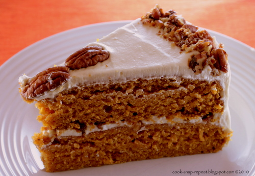 Brown Butter Pumpkin Layer Cake ~ Cook, Snap, Repeat
