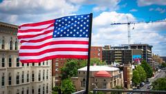 2017.07.02 Rainbow and US Flags Flying Washington, DC USA 7207