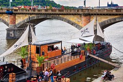 Pirates on the Vltava River in Prague (kadofr) Tags: czech moldau pirates prague river vltava