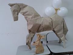 Horse - Hideo Komatsu and Rabbit - Ronald Koh (javier vivanco origami) Tags: horse hideo komatsu rabbit ronald koh javier vivanco origami ica peru facultad de medicina veterinaria y zootecnia unica universidad san luis gonzaga