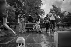 Here's a Tip for Ya (Billy Woolfolk) Tags: ricoh ricohgr apsc mirrorless neworleans louisiana jacksonsquare musician jazz brassband busker rain リコー リコーgr ミラーレス ニューオーリンズ ジャッズ ストリートフォトグラフィー チップ 雨