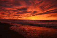 Fire..... (flying-leap) Tags: canon canon60d 60d northcanterbury nz sunrise the4seasons cloudsstormssunsetssunrises clouds waikukubeach sky tamron 4winter tamonaf16300mm winter seasons