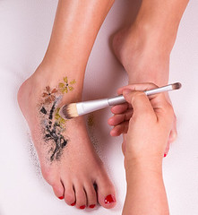 27889693_s (PartyHelfer) Tags: glitter tattoo removable brush fashion summer bright sensual color exotic caucasian slender sexy beautiful art colorful beauty holiday soft temporary adult closeup sparkle gorgeous tinsel tender