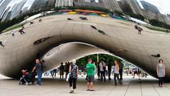 Cloud Gate, Chicago, Illinois (duaneschermerhorn) Tags: reflection reflective glass windows glassclad mirror distortion chicago illinois art artwork sculpture installation kapoor anishkapoor outdoorart outdoorsculpture