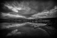 valleymount (Ben.Russell) Tags: blessington blackandwhite lake bridge valleymount bw clouds sky landscape d300 sigmalense wideangle