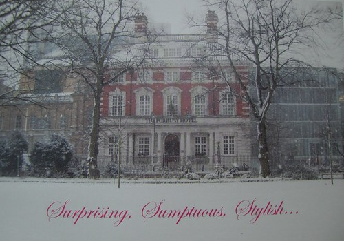 Christmas card from the Forbury Hotel