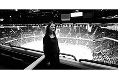 Game on! (melodramababs) Tags: selfportrait calgary me self hockeygame day165 pengrowthsaddledome 365days 365v2