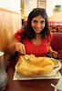 Deflating the bhatura (Hungry Canuck) Tags: indianfood vegetarianfood udipi southindian bhatura southindianfood udipicafe monroevillefood