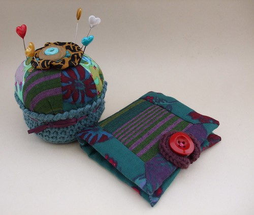 Pincushion and needlebook